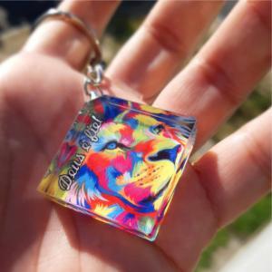 Chaveiro Cristal Chaveiro de vidro que parece um cristal